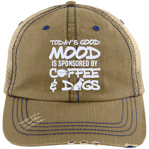 Today's Good Mood Coffee & Dogs Unstructured Cap - Our Pet Card