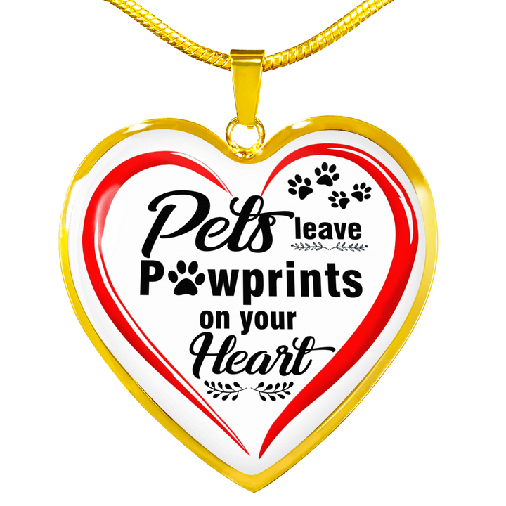 Jewelry - Pets Leave Pawprints On Your Heart Necklace