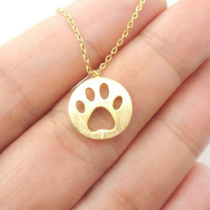 Paw Print Pendant Necklaces - Our Pet Card