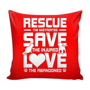 Rescue Save Love Pillow Cover - Our Pet Card