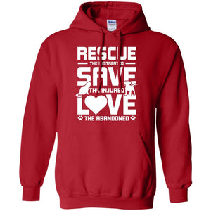 Rescue Save Love - Hoodie - Our Pet Card