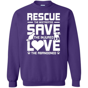 Rescue Save Love - Sweatshirt - Our Pet Card
