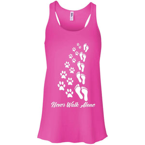 Never Walk Alone - Ladies Flowy Tank - Our Pet Card