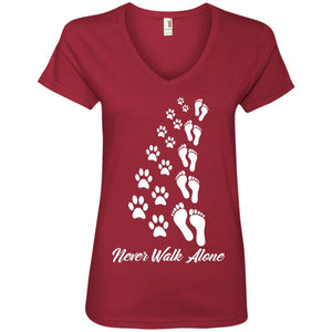 T-Shirts - Never Walk Alone - Ladies V Neck
