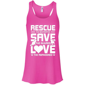 Rescue Save Love - Ladies Flowy Tank - Our Pet Card