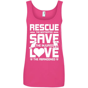 T-Shirts - Rescue Save Love - Ladies Tank
