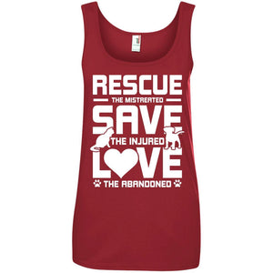Rescue Save Love - Ladies Tank - Our Pet Card