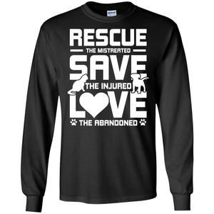T-Shirts - Rescue Save Love - Long Sleeve