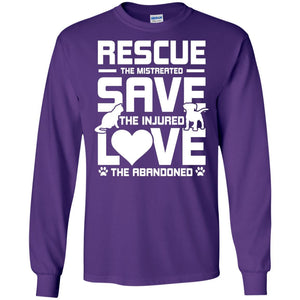 Rescue Save Love - Long Sleeve - Our Pet Card