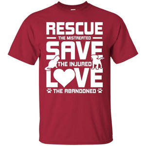 T-Shirts - Rescue Save Love - T Shirt