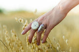 Full Moon Ring ◇ White Howlite ◇ Your Size
