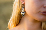 Desert Bloom Earrings ◇ White Howlite + Australian Opal