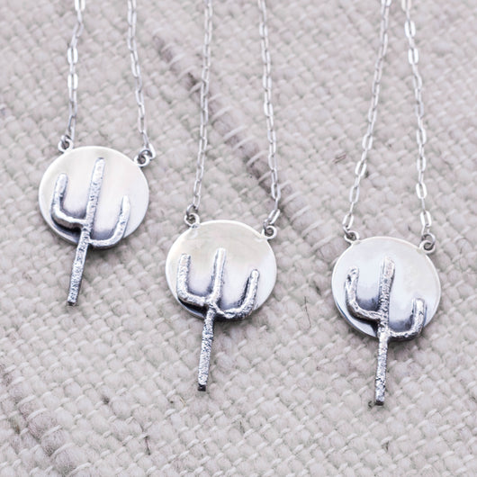 Full Moon Saguaro Necklace