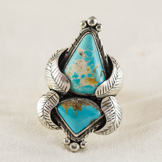 Turquoise Feather Ring (A) ◇ Royston Turquoise ◇ Size 7.25