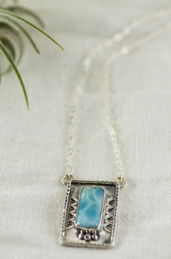 With the Tides Necklace ◇ Larimar (A)