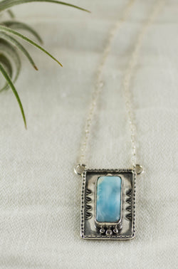 With the Tides Necklace ◇ Larimar (B)