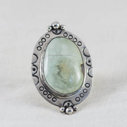 Eclipse Ring (B) ◇ Desert Turtle Variscite  ◇ Size 8