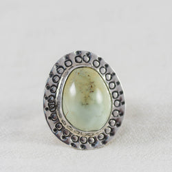 Illuminate Ring (A) ◇ Desert Turtle Variscite  ◇ Size 6.5