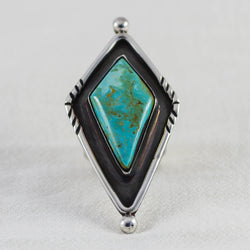 Sky Weaver Ring (A) ◇ Royston Turquoise ◇ Size 8.5