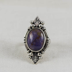 Lavender Skies Ring ◇ Burrow Creek Agate ◇ Size 5.5