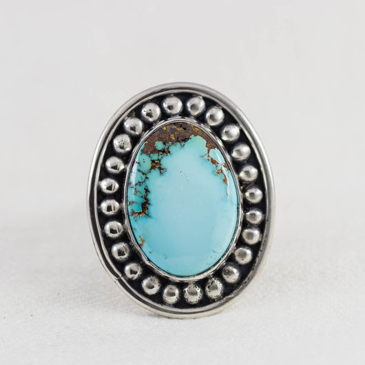 Surroundings Ring (A) ◇ Royston Turquoise ◇ Size 8