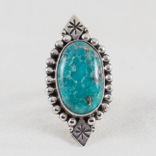 Above & Below Ring (B) ◇ Campitos Turquoise ◇ Size 7