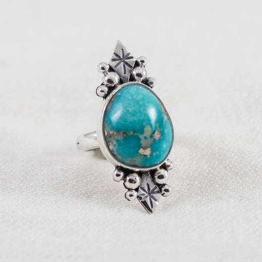 Star Shadow Ring (C) ◇ Campitos Turquoise ◇ Size 5
