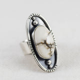 Dusk & Dawn Ring ◇ White Howlite ◇ Your Size