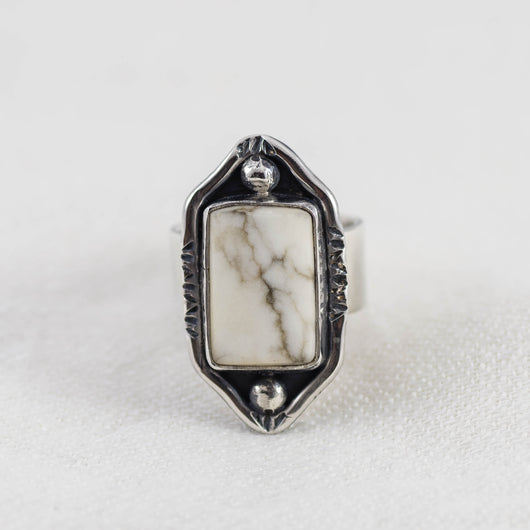 Desert Mountains Ring ◇ White Howlite ◇ Your Size