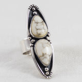 Lunar Mountain Ring (B) ◇ White Howlite ◇ Your Size