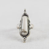 Solstice Ring ◇ White Howlite ◇ Your Size