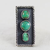 Triple Shadowbox Ring ◇ Damale Turquoise ◇ Size 7