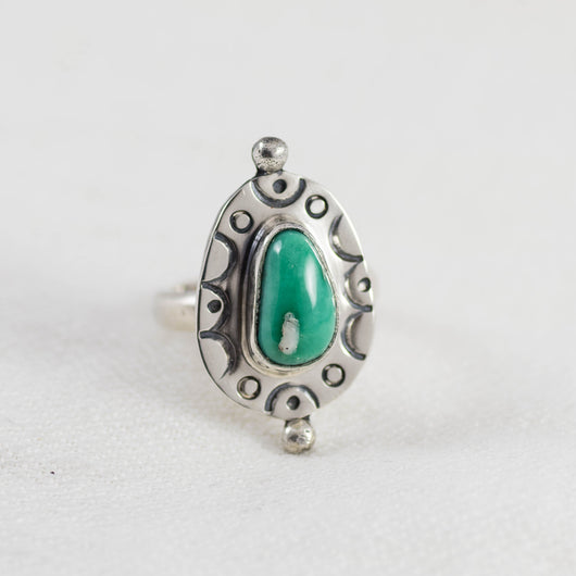 Petite Eclipse Ring (A) ◇ Damale Turquoise ◇ Size 6
