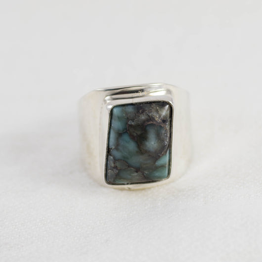Damale Men's Ring (A) ◇ Damale Turquoise ◇ Size 11