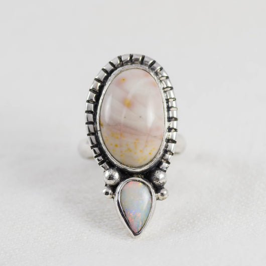 Mystic Plains Ring ◇ Willow Creek Jasper + Australian Opal ◇ Your Size