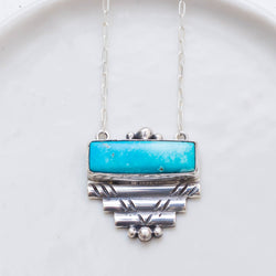 Ancient Wisdom Necklace (A) ◇ Old Mine American Turquoise