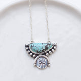 Inner Eye Necklace (B) ◇ Spiderweb Turquoise