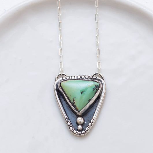 Lunar Path Necklace ◇ Saguaro Variscite