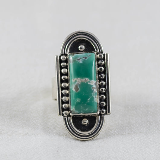 At Dusk Ring ◇ Lucin Variscite ◇ Size 8.5