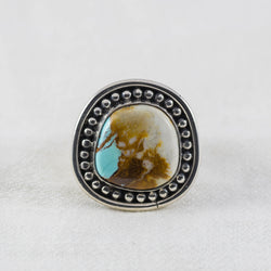 Tide Pool Ring (B) ◇ Royston Ribbon Turquoise ◇ Size 7.5