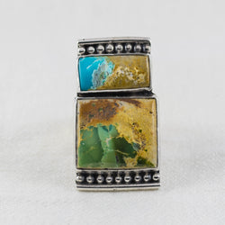 River Ridge Ring ◇ Royston Ribbon Turquoise ◇ Size 9