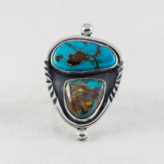 Surroundings Ring (D) ◇ Royston Turquoise ◇ Size 7.5
