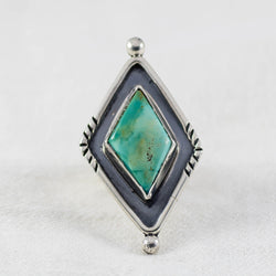 Sky Weaver Ring (B) ◇ Royston Turquoise ◇ Size 6