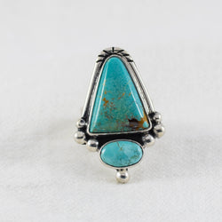 Turquoise Skies Ring (A) ◇ Royston + Carico Lake Turquoise ◇ Size 6.5