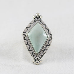 Diamond Eclipse Ring ◇ Desert Turtle Variscite  ◇ Size 7