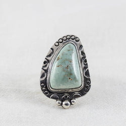 Canyon Eclipse Ring (B) ◇ Desert Turtle Variscite  ◇ Size 5.25