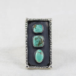 Totem Shadows Ring ◇ Carico Lake Turquoise ◇ Size 7.5