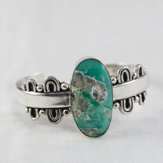 Reflection Cuff ◇ Lucin Variscite