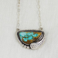 Turquoise Feather Necklace ◇ Royston Turquoise
