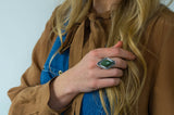 Follow the Tides Ring ◇ Royston Ribbon Turquoise ◇ Size 8.5